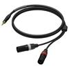 Procab PRA712 - Аудиокабель miniJack 3,5 мм стерео (вилка) – 2х XLR 3-pin (вилка), гибкий, UltraFlex™