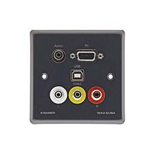 Kramer WAV-6UBA - Панель c проходными разъемами VGA, USB, CV, стереоаудио