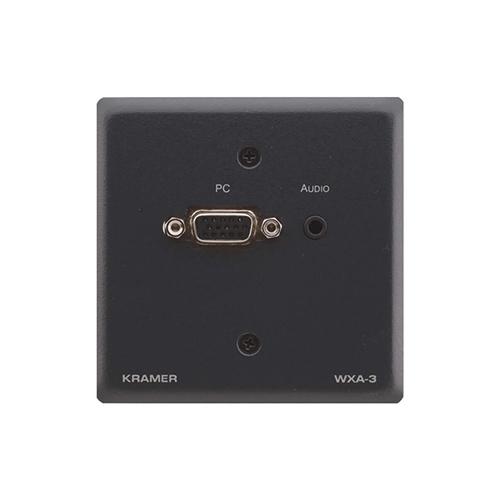 Kramer WXA-3 - Настенная панель-переходник с разъема VGA и аудио (розетка 3,5-мм) на клеммный блок