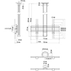 Vogels CT0864 Black - Комплект потолочного поворотного крепления для дисплея диагональю 39–65'', длина штанги 800 мм, макс. нагрузка 80 кг