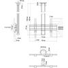 Vogels CT1564 Silver - Комплект потолочного поворотного крепления для дисплея диагональю 39–65'', длина штанги 1500 мм, макс. нагрузка 80 кг