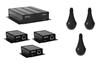 ClearOne CM Array2/B Bundle C - Комплект из 3 черных потолочных микрофонных массивов с выходом Dante, 3 передатчиков и приемника