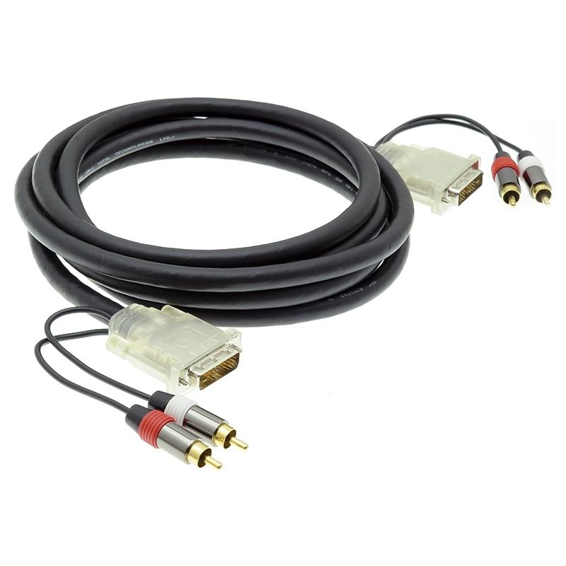 Qtex TC-D25P/2RP-3 - Кабель DVI-D, 2х RCA (вилка) – DVI-D, 2х RCA (вилка)