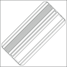 Brightline FLXT2-X35-FS-M45 - Потолочный двухмодульный светодиодный светильник с регулировкой яркости по интерфейсу DALI и ориентацией 45°