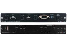 Kramer KIT-400 - Комплект из передатчика с автоматическим коммутатором 2 х HDMI 4K/60, VGA и приемника со встроенным масштабатором сигнала HDMI 4K/60