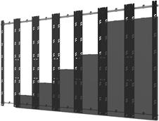 Peerless-AV DS-LEDUPS-7X7 - Монтажный комплект для установки видеостены из панелей серии Unilumin UpanelS в конфигурации 7x7