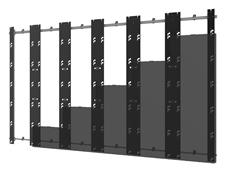 Peerless-AV DS-LEDUPS-6X6 - Монтажный комплект для установки видеостены из панелей серии Unilumin UpanelS в конфигурации 6x6