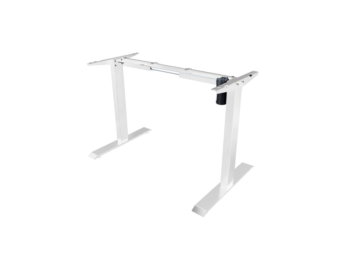 ErgoFount BSSD-L10-18/14 W - Основание стола для работы стоя и сидя с электроприводом на телескопических опорах 710–1210 мм, макс. нагрузка 70 кг, белое