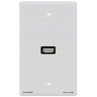 Kramer WP-H1M/US(W) - Настенная панель-переходник с проходным разъемом HDMI