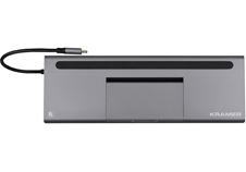 Kramer KDOCK-4 - Переходник с USB 3.1 тип C на HDMI, VGA, DisplayPort, Ethernet, аудио, разъемы для карт SD и MicroSD, 2хUSB 3.0, USB 2.0 и USB 3.1 тип C