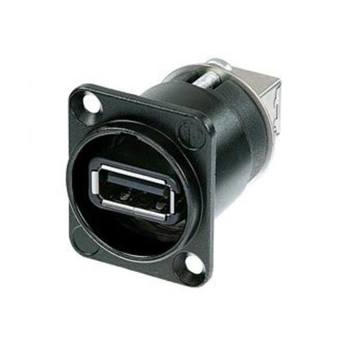 Neutrik NAUSB-W-B - Переходник USB 2.0 тип А (розетка) на USB тип B (розетка), цвет черный