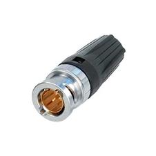 Neutrik NBNC75BYY11 - Кабельный разъем BNC (вилка) под обжим, на кабель диаметром 8 мм, импеданс 75 Ом