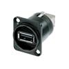 Neutrik NAUSB-W - Переходник USB 2.0 тип А (розетка) на USB тип B (розетка)