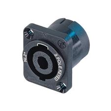 Neutrik NL2MP - Панельный разъем SPEAKON 2-pin (вилка) для подключения громкоговорителей/усилителей, на кабель диаметром 6–10 мм