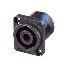 Neutrik NL4MP - Панельный разъем SPEAKON 4-pin (вилка) для подключения громкоговорителей/усилителей, с фланцем типа D и поворотной системой блокировки