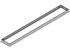 """Brightline 016-357 - Рамка для установки светильника 6"""" x 4' в потолок из гипсокартона"""