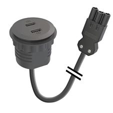 Kondator 935-PM51-GST - Встраиваемая розетка для монтажа в стол с 2 разъемами USB