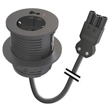 Kondator 935-PM60-GST - Встраиваемая розетка для монтажа в стол с отверстием для кабелей 10x20 мм