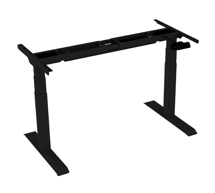 ErgoFount BSSD-L10-18/24 B - Основание стола для работы стоя и сидя, с электроприводом на телескопических опорах 580–1230 мм, макс. нагрузка 125 кг, черное