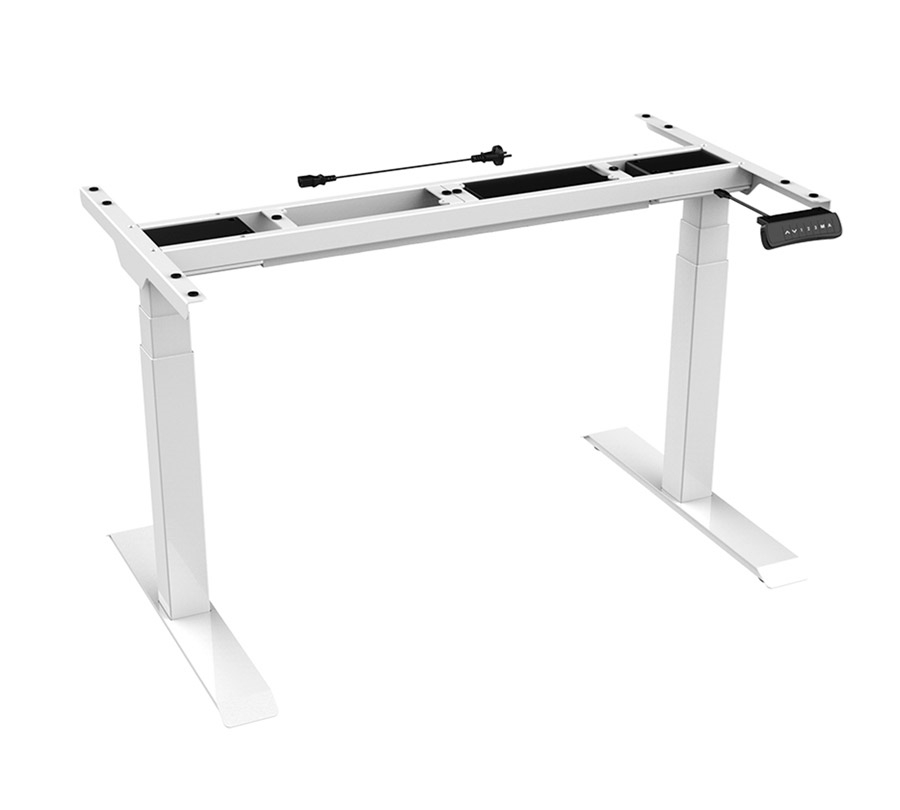 ErgoFount BSSD-L10-18/24 W - Основание стола для работы стоя и сидя, с электроприводом на телескопических опорах 580–1230 мм, макс. нагрузка 125 кг, белое