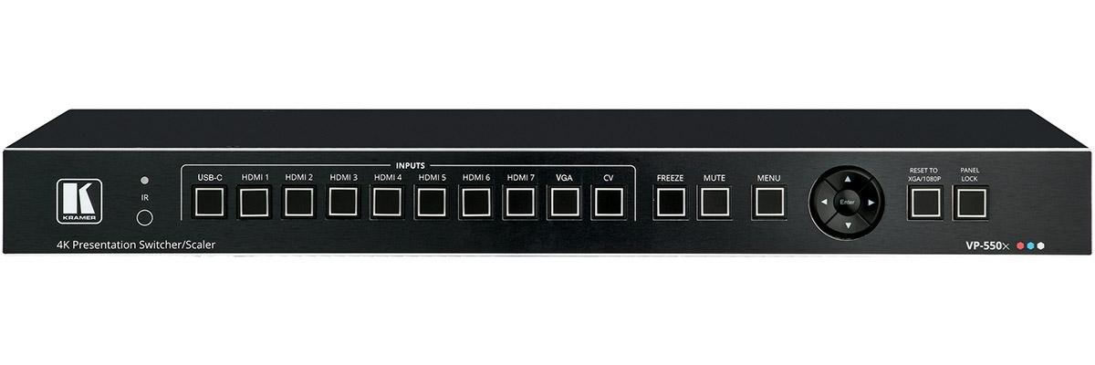 Kramer VP-550X - Коммутатор / масштабатор 7xHDMI / VGA / CV / USB-C в HDMI