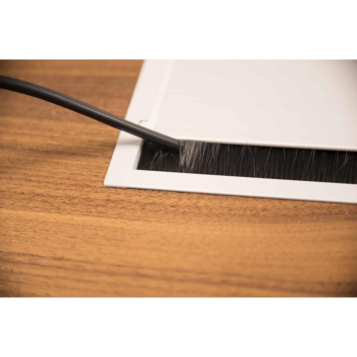 ABL 2U210MID - Короб для установки розеточных станций серии Link под стол с лючком длиной 347 мм, белый
