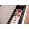 ABL 2U220MAX - Короб для установки розеточных станций серии Link под стол с лючком длиной 447 мм, серебристый